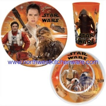 Star Wars The force Awakens 3 Piece Dinner Set