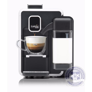 Caffitaly Cappuccina S22 OTC One Touch Cappuccino Machine White/Black