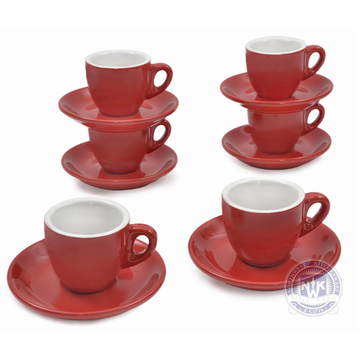 Cappuccino Red Set of 6